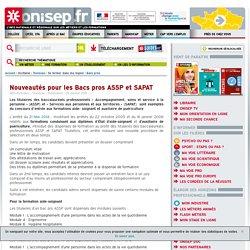 Nouveautés pour les Bacs pros ASSP et SAPAT