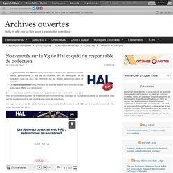 Nouveautés sur la V3 de Hal et quid du responsable de collection