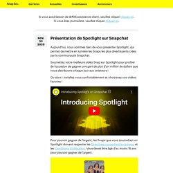 Nouveautés - Snap Inc.