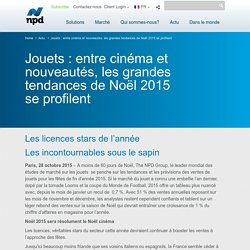 Jouets : entre cinéma et nouveautés, les grandes tendances de Noël 2015 se profilent