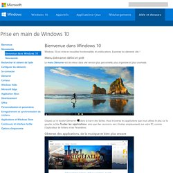 Nouveautés de Windows 10 - Aide Windows