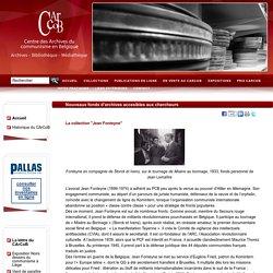 Nouveaux fonds d'archives accesibles aux chercheurs - CArCoB