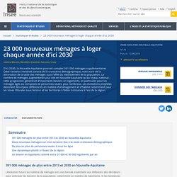 23000nouveaux ménages à loger chaque année d'ici 2030 - Insee Analyses Nouvelle-Aquitaine - 78