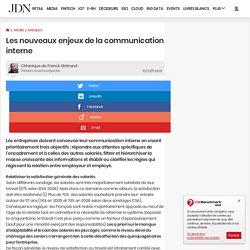 Les nouveaux enjeux de la communication interne par Franck Gintrand – Chronique Management