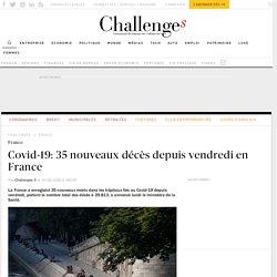 Covid-19: 35 nouveaux décès depuis vendredi en France
