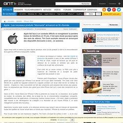 """Apple : Les nouveaux produits """"étonnants"""" arriveront en fin d'année"""