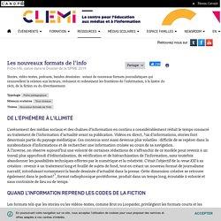 Les nouveaux formats de l'info- CLEMI