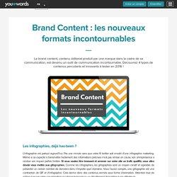 Brand Content : les nouveaux formats incontournables