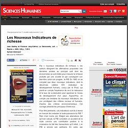 Les Nouveaux Indicateurs de richesse - Sylvain Allemand , article Économie