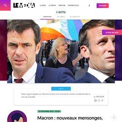 25 septembre 2020 - 20H30 Macron : nouveaux mensonges, nouveaux scandales