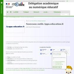 Nouveaux outils Apps.education.fr