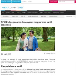Philips annonce de nouveaux programmes santé connectés