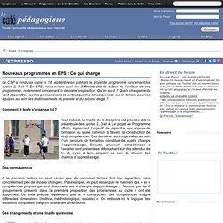 Nouveaux programmes en EPS : Ce qui change