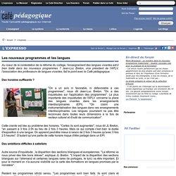 Les nouveaux programmes et les langues, vues par APLV (association des professeurs de langues vivantes)