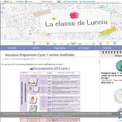 Description des programmes, contenus de cours, activités... pls cycles