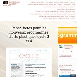 Arts plastiques : fiches synthétiques cycle 3 et 4
