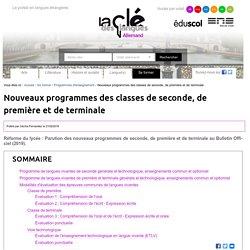 Nouveaux programmes des classes de seconde, de première et de terminale — Allemand