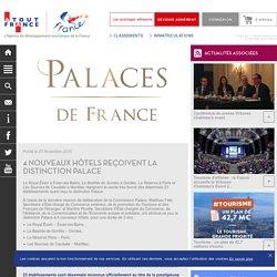 4 nouveaux hôtels reçoivent la distinction Palace