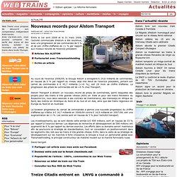 Nouveaux records pour Alstom Transport