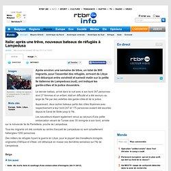 Italie: après une trêve, nouveaux bateaux de réfugiés à Lampedusa