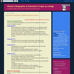 Histoire-Géographie et Education Civique au collège: nouveaux repères pour le Diplôme national du Brevet