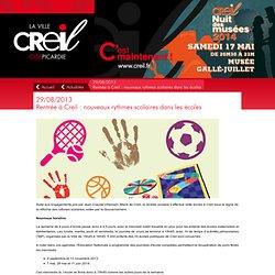 Rentrée à Creil : nouveaux rythmes scolaires dans les écoles