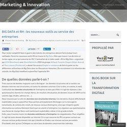 BIG DATA et RH : les nouveaux outils au service des entreprises