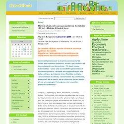 Marche urbaine et nouveaux systèmes de mobilité : 22 oct. - Matinée d'étude à Lyon