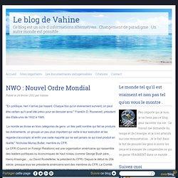 NWO : Nouvel Ordre Mondial