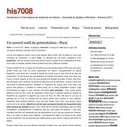 Un nouvel outil de présentation : Prezi « his7008