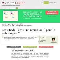 Les «Style Tiles», un nouvel outil pour le webdesigner ?