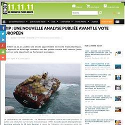 TTIP : une nouvelle analyse publiée avant le vote européen