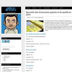 Nouvelle liste d'annuaires gratuits et de qualité en 2014