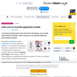 Celio sort sa nouvelle application mobile
