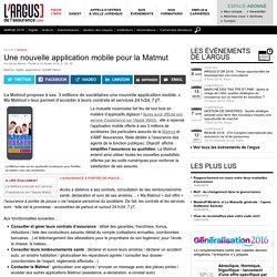 Une nouvelle application mobile pour la Matmut