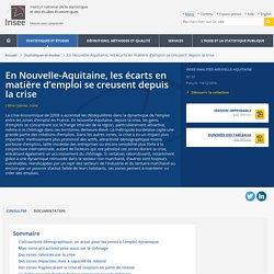 En Nouvelle-Aquitaine, les écarts en matière d'emploi se creusent depuis la crise - Insee Analyses Nouvelle-Aquitaine - 37