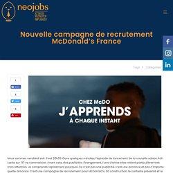 Nouvelle campagne de recrutement McDonald's France - neojobs
