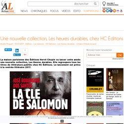 Une nouvelle collection chez HC Éditions (ActuaLitté)