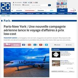 Paris-New York : Une nouvelle compagnie aérienne lance le voyage d'affaires à prix low-cost
