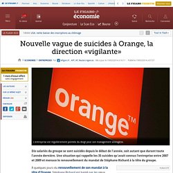 Nouvelle vague de suicides à Orange, la direction «vigilante»