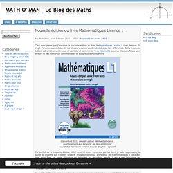 Nouvelle édition du livre Mathématiques Licence 1