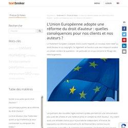Nouvelle réforme européenne du droit d'auteur