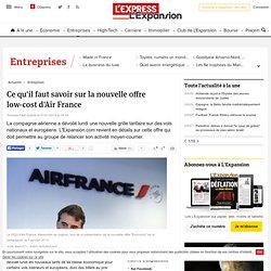 Ce qu'il faut savoir sur la nouvelle offre low-cost d'Air France