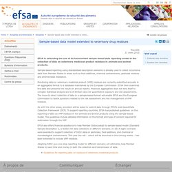 EFSA 31/03/15 Sample-based data model extended to veterinary drug residues