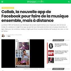 Collab, la nouvelle app de Facebook pour faire de la musique ensemble, mais à distance