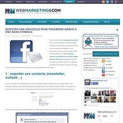 Booster une nouvelle page Facebook grâce à une base d'emails