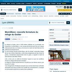 Mont-Blanc: nouvelle fermeture du refuge du Goûter