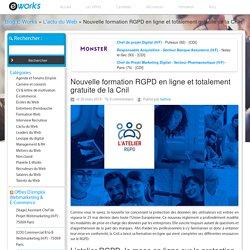 Nouvelle formation RGPD en ligne et totalement gratuite de la Cnil