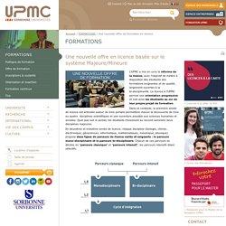 Une nouvelle offre de formation en licence -Université Pierre et Marie CURIE