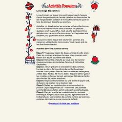 Les Pommes de la Nouvelle-Écosse - français - Le séchage des pommes